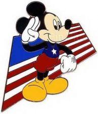 Buy Disney Mickey American Pin Trading USA Flag Pin/Pins