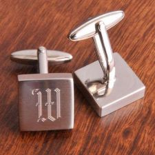 Buy Harrison Silver Cufflinks - Free Personalization