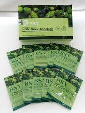 Buy 10 BSY NONI Black Hair Magic 20ml Hair Dye Natural Herbal Hair Color Shampoo