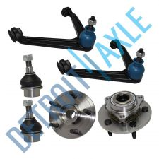 Buy 6 pc Set NEW 2 Wheel Hub Bearing w/ ABS 2 Upper Control Arm 2 Lower Ball Joint