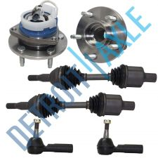 Buy 2 Front CV Drive Axle Shaft + 2 Wheel Hub Bearing Assembly + 2 Outer Tie Rods
