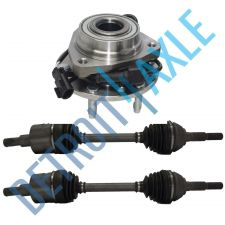 Buy 2 Axles Front Left # 86C + Front Wheel Hub # 513188 Oldsmobile, Saab, GMC, . AWD