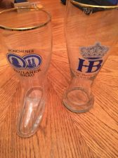 Buy Two really nice beer glasses - includes boot glass - USA Seller