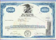 Buy Nevada na Stock Certificate Company: Bell Montain Silver Mines, Inc.~9