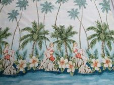 Buy Nautical Fabric Hawaii Beach Palm Trees Quilt Block 55 x 55 cm.FQ BANDANNA SCARF