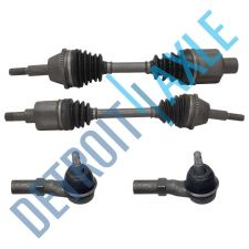 Buy 4 pc Kit - 2 Front Driver and Passenger CV Axle Drive Shaft w/ ABS + 2 Tie Rods