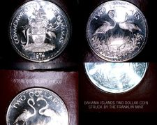 Buy 1974 Bahamas 2 Dollar Proof World Silver Coin