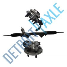 Buy 3 pc Set: Steering Rack and Pinion + 2 Wheel Hub Bearing Assembly; 4.0L w/ ABS