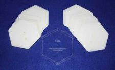 "Buy Mylar 4"" Hexagon- 51 Piece Set - Quilting / Sewing Templates -"