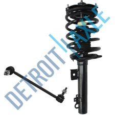 Buy 2 pc Set - NEW Front Passenger Complete Ready Strut Assembly + Sway Bar Link
