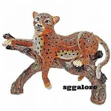 Buy Large Limited RUCINNI Swarovski Crystals Jeweled CHEETAH Minaudiere Trinket BOX