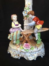 Buy Antique GERMAN DRESDEN porcelain. Children playing. With marks