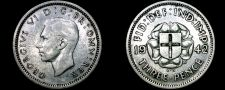 Buy 1942 Great Britain 3 Pence World Silver Coin - UK