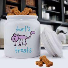 Buy Ceramic Cat Treat Jar - Free Personalization
