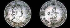 Buy 1960-H Hong Kong 1 Dollar World Coin