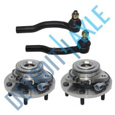Buy Set: 2 New FRONT Driver and Passenger Wheel Hub Bearing -w/ ABS + 2 Tie Rod End