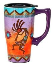 Buy Ceramic Travel Mug Cup Glass Egyptian Abstract Art Style Collectible Multi Color
