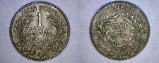 Buy 1941 (AH1360) Tunisian 1 Franc World Coin - Tunisia