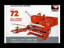 Buy ALLIS CHALMERS ALL-CROP 72 HARVESTER PARTS MANUAL 175pgs w/ Auger Feed Combine