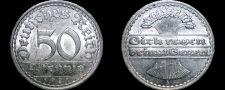 Buy 1921 A German 50 Pfennig World Coin - Germany Weimar Republic