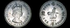 Buy 1960-KN Hong Kong 1 Dollar World Coin