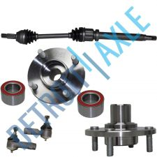 Buy FRONT Passenger CV Axleshaft + 2 Tie Rod + 2 Wheel Hub Bearing Assembly