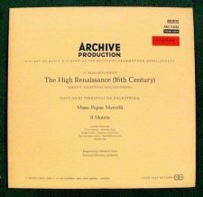 Buy THE HIGH RENAISSANCE (16th Century) / 8 Motets Stereo LP