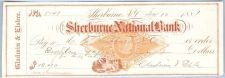 Buy New York Shelburne Cancelled Check Shelburne National Bank Check #5141 Dat~51