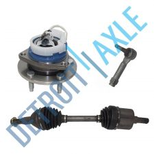 Buy 3 pc Set: Front Right CV Axle + 1 Outer Tie Rod + Wheel Hub Bearing w/ABS; FWD