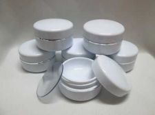 Buy 50 Empty Cosmetic Cream Makeup Portable Plastic Jars Pots Bottles container 5 g