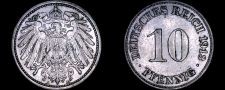Buy 1913-A German 10 Pfennig World Coin - Germany