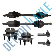 Buy 2 Front CV Axle Shafts + 2 NEW Tie Rods + 2 NEW Wheel Hub and Bearing Assembly