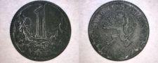 Buy 1943 Bohemia & Moravia 1 Koruna World Coin