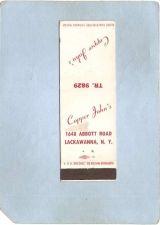 Buy New York Lackawanna Matchcover Cooper John's 1648 Abbott Rd ny_box4~2395