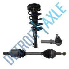 Buy Front Driver CV Axle Shaft + Ready Strut Assembly + Outer Tie Rod