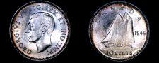 Buy 1946 Canada 10 Cent World Silver Coin - Canada - George VI