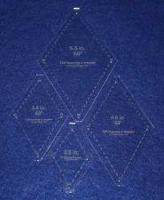 "Buy Quilt Templates-No Tip 60° Diamond 4 Pc Set- 2.5"",3.5"",4.5"",5.5"" 1/8"""