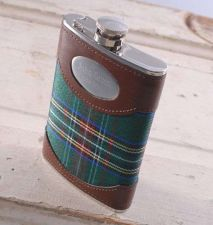 Buy Green Plaid 8oz. Flask. - Free Personalization
