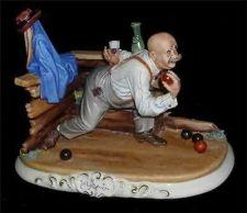 Buy CAPODIMONTE Playing Bocce by Enzo Arzenton Laurenz Sculpture COA Italy 9x12inchs
