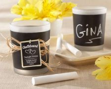 Buy Chalkboard Frosted-Glass Tealight Holder (Set of 24)