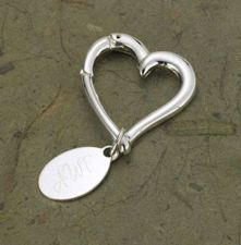 Buy Heart Keychain with Oval Tag - Free Personalization