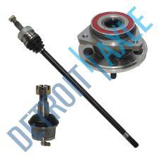 Buy 1 Front Passenger CV Axle Shaft + 1 Wheel Hub Bearing + 1 Lower Ball Joint