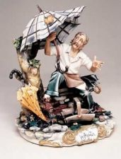 Buy CAPODIMONTE Umbrella Maker by Enzo Arzenton Laurenz Classic Sculpture Italy