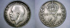 Buy 1922 Great Britain 3 Pence World Silver Coin - UK