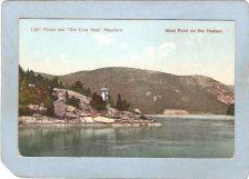 Buy New York West Point Lighthouse Postcard Light House & Old Crow Nest Mounta~766