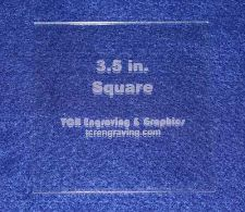 """Buy Square 3 1/2""""- Actual Size- 1/8"""" Clear Acrylic - Quilting Templates- No seam"""