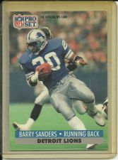 Buy Barry Sanders - Running Back - Detroit Lions - NFL Pro Set 1991 Card # 502