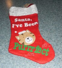 Buy Brand New Cute Cat Christmas Stocking Purrfect Design For Dog Rescue Charity