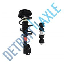 Buy 2 pc Set Front Driver or Passenger Complete Ready Strut Assembly + Sway Bar Link