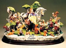 Buy Disney Capodimonte Snow White Prince 7 Dwarfs & Friends 50th Anniversary COA